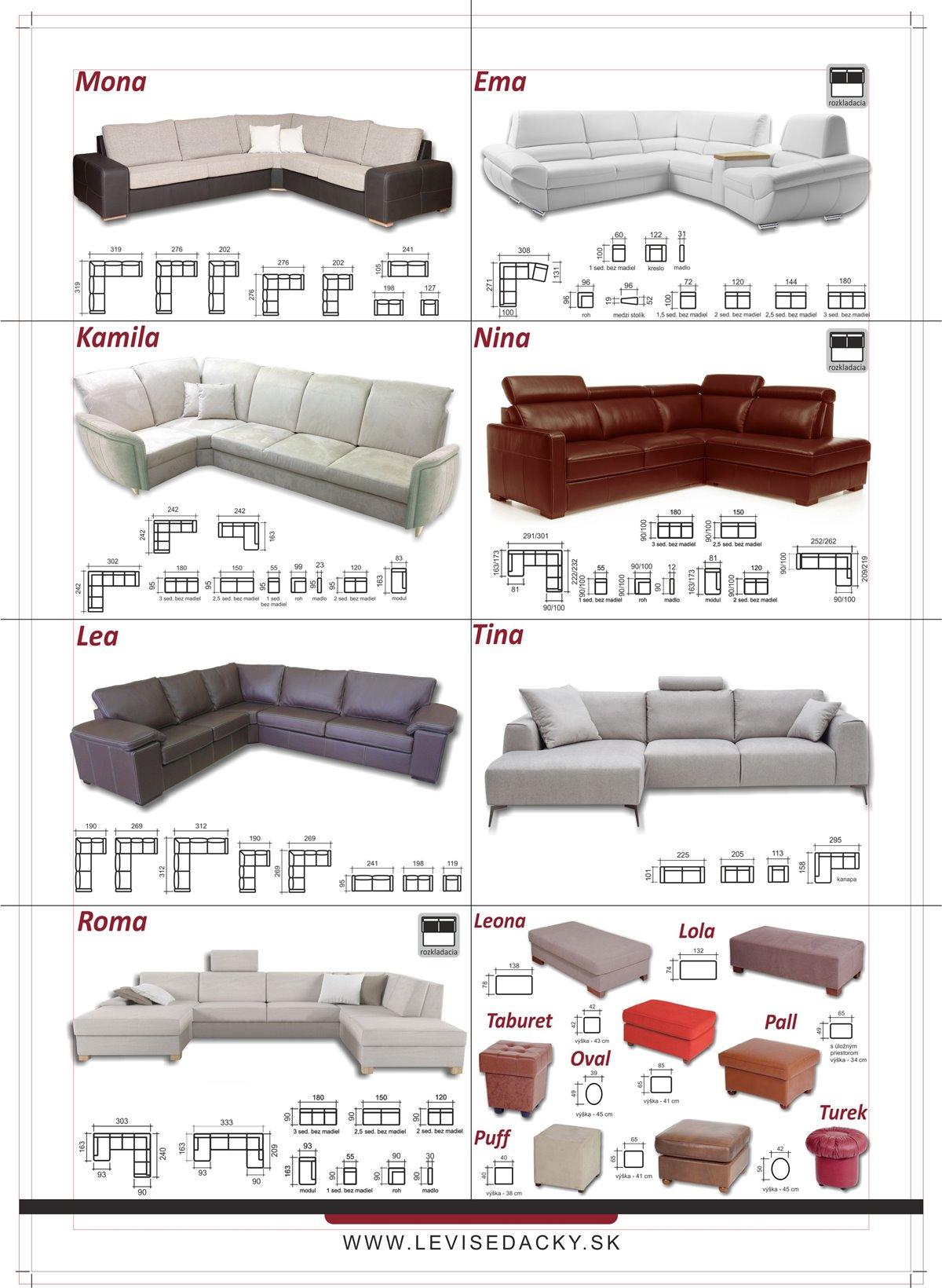 Čalúnený nábytok LEVI 2